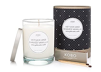 Kobo Candles Soy Candle Vetiver And Shaved Vanilla