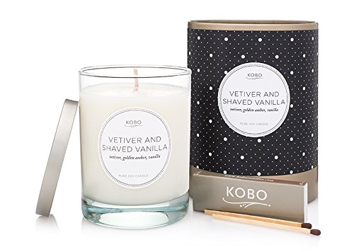 Kobo Candles Kobo Soy Candle, Vetiver and Shaved - Saratoga Springs In Stores