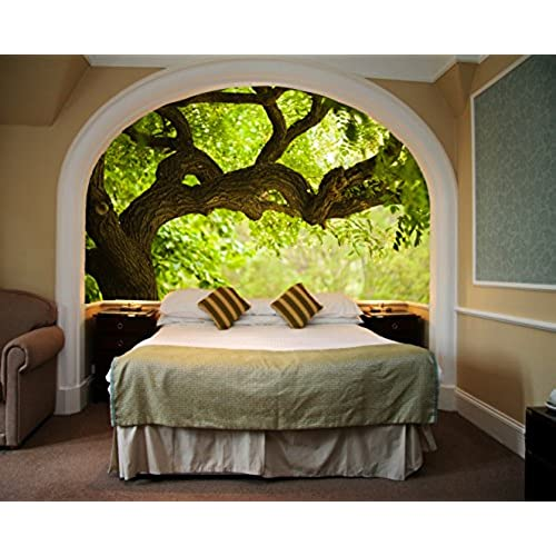 Genial Startonight Mural Wall Art Photo Decor Tree On The Green Landscape Medium  4 Feet 2 Inch By 6 Feet Wall Mural For Living Room Or Bedroom