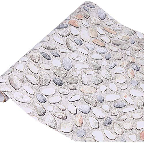 (Yija White Pebbles Waterproof Wallpaper Shelf Drawer Liner Self-Adhesive Cabinet Sticker 17.7inch by)