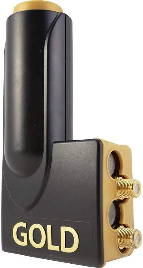 Micro Single New Gold Edition LNB schwarz gold Premium Gold Anschl/üsse, Full HD, 3D ready, 5 Jahre Garantie