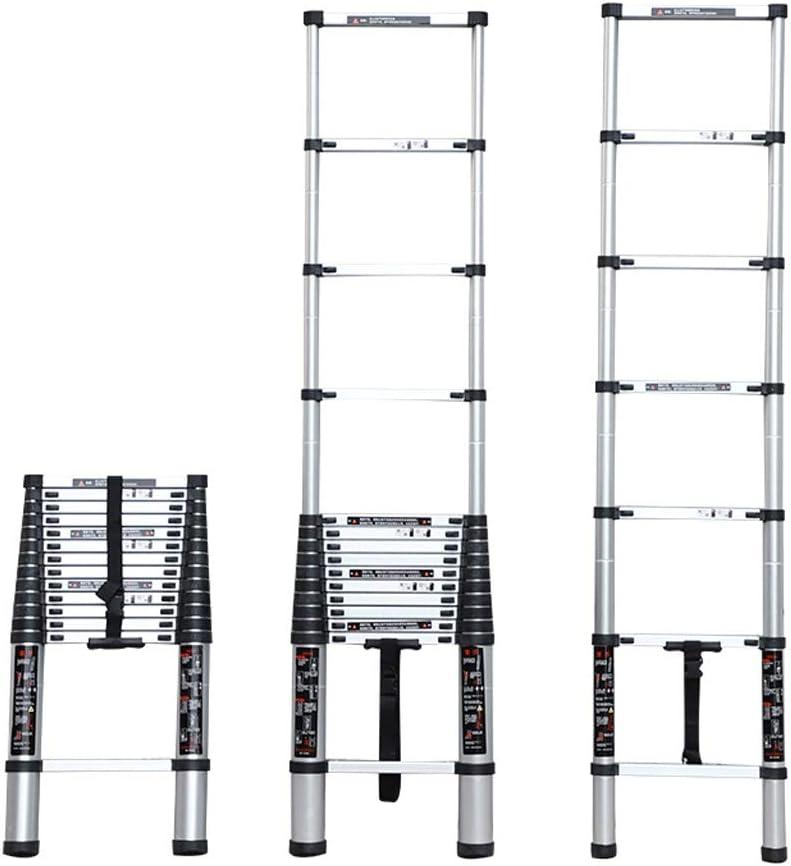 YTC Multipropósito Telescópica Escalera, Plegable De Aluminio Loft Ático Portátil Compacto Antideslizante Paso Escaleras De Carga De 150 Kg (Size : 2.2m): Amazon.es: Hogar