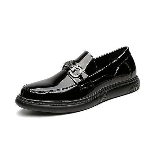 Zapatos de Cuero de los Hombres Smooth PU Mocasines Superiores Caballeros Negocios Oxfords: Amazon.es: Zapatos y complementos