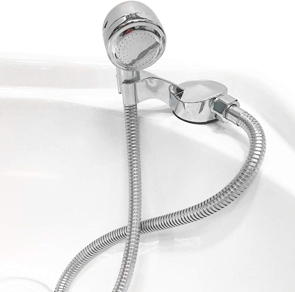JJYHEHOT Manguera de ducha Manguera de acero inoxidable 1.2m Doble hebilla Cifrado Recubrimiento Manguera de ducha cromada