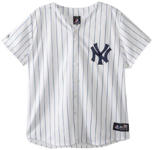 MLB New York Yankees Home Replica Baseball Women's Jersey, White/Navy, Large
