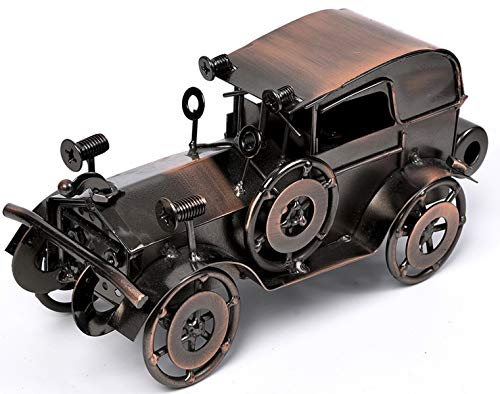 QBOSO Metal Antique Vintage Car Model Handcrafted Collections Collectible Vehicle Toys for Bar or Home Decor Decoration Great Birthday Gift Bronze Classic Car Model, Large ()