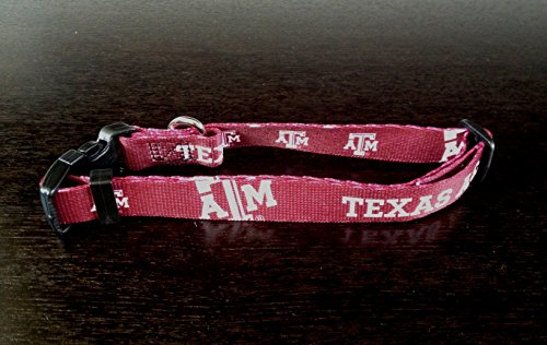 Texas A&M Aggies Adjustable Pet Dog Collar All Sizes (XS)