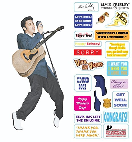 - Elvis Presley Quotable Notable - Die Cut Silhouette Greeting Card and Sticker Sheet