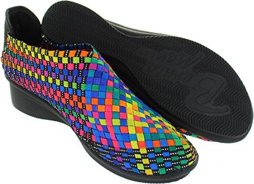 Lacets de pour Gem Femme Chaussures Yael Bernie Multicolore Multicolore Mev Ville à 0nOfq4U6W
