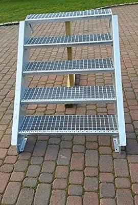 Acero Escalera exterior Escaleras mejilla Escaleras galvanizado 4 niveles GH 55 – 85 cm 4 – 150 de Z: Amazon.es: Bricolaje y herramientas