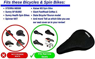 Premium Bicycle Gel Seat Cover Most Comfortable Bike Saddle Cushion Spin US