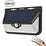 68 LED Solar Lights, Wireless Waterproof Outdoor Solar Powered Motion Sensor Security Light With Remote Control 3 Modes Lighing for Garage, Patio, Garden, Yard, Step Stair, Fence, Deck