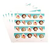 Seashells Postcard Stamp USPS Forever Stamps, Sheet of 20 - US Postage Card Stamps (5 Sheets of 20 Stamps)