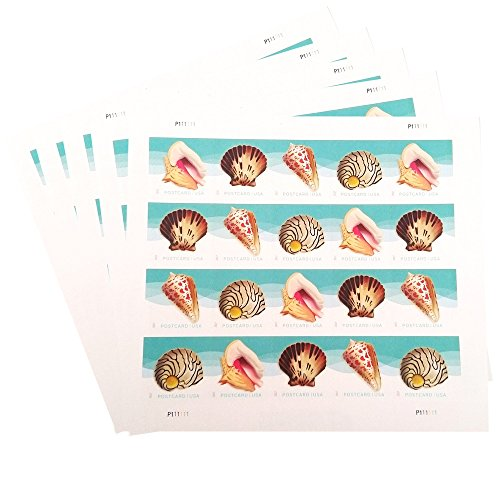USPS Seashells Postcard Stamps (5 Sheets of 20 Stamps) (35 Usp)