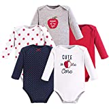 Hudson Baby Girls' Long Sleeve Bodysuits