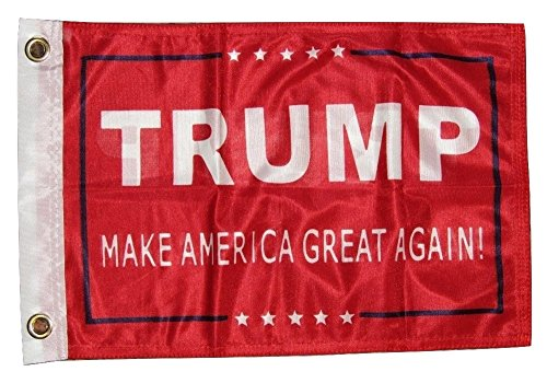 AES 12x18 President Trump Make America Great Red 2ply Double Sided 12