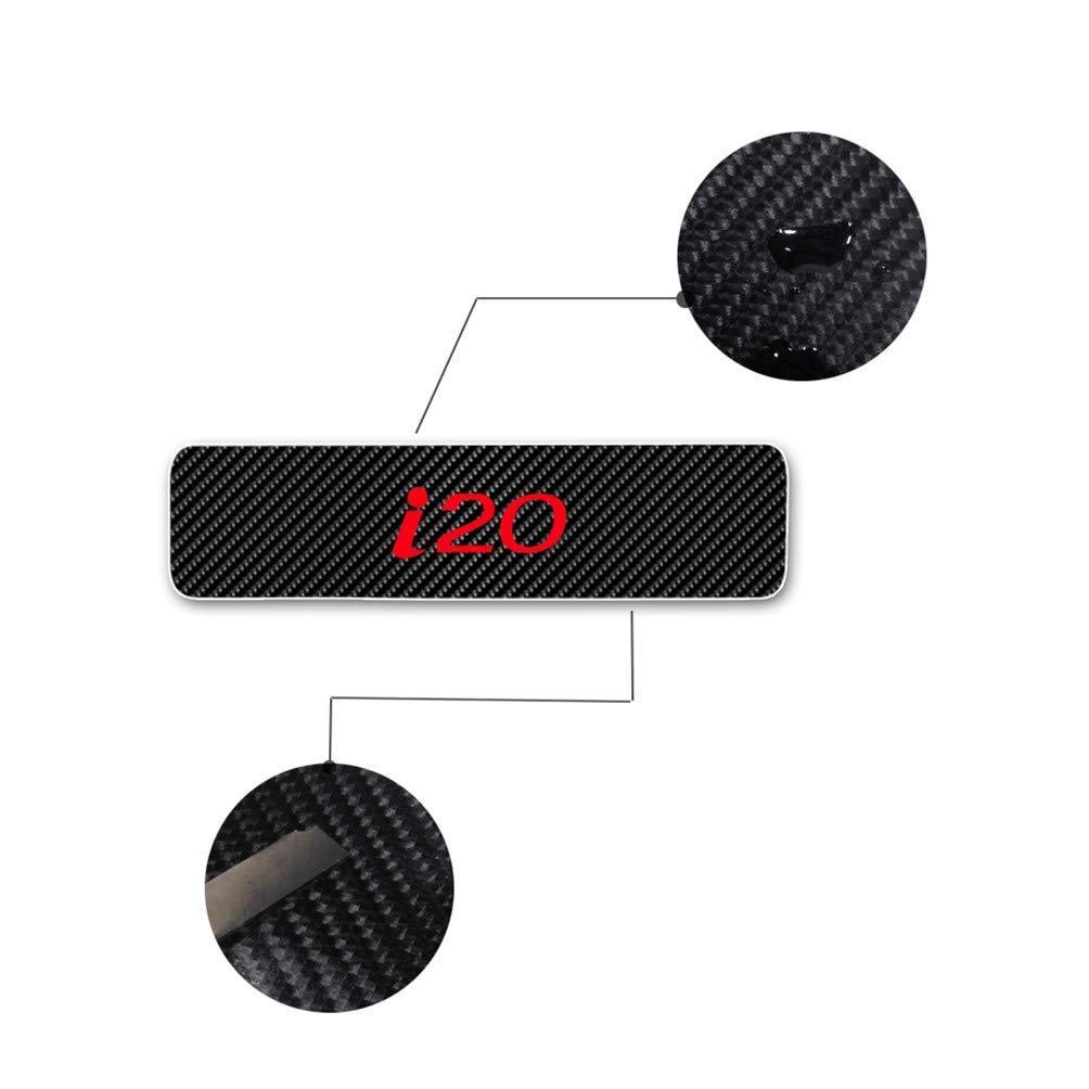 Maiqiken Juego de 4 Pegatinas de Fibra de Carbono para el umbral de i20 Blanco