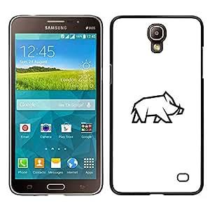 LECELL--Funda protectora / Cubierta / Piel For Samsung Galaxy Mega 2 -- Jabalí Haunt --