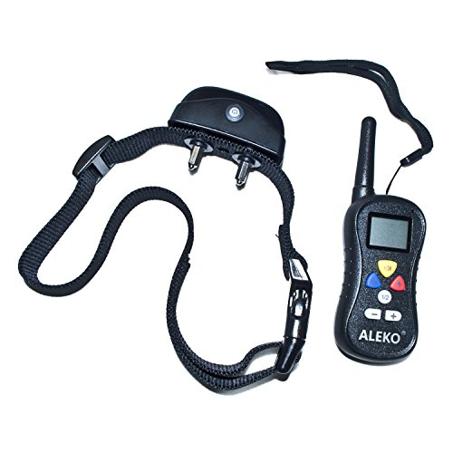 ALEKO TS-TC008 Remote Pet Training Collar, 1 Dog (Training Revolutionary)