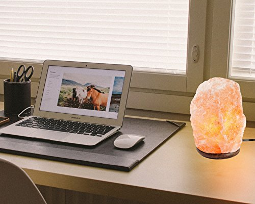 HemingWeigh Natural Himalayan Rock Salt Lamp 7-13 lbs with Wood Base, Electric Wire & Bulb by HemingWeigh (Image #4)