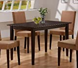 Casual Style Cappuccino Finish Wood Dining Table P.Number: 100491
