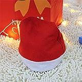 Xeminor Premium Quality Santa Hat Christmas Hat Father Christmas Hat Christmas Party Unisex Adult Red Cap
