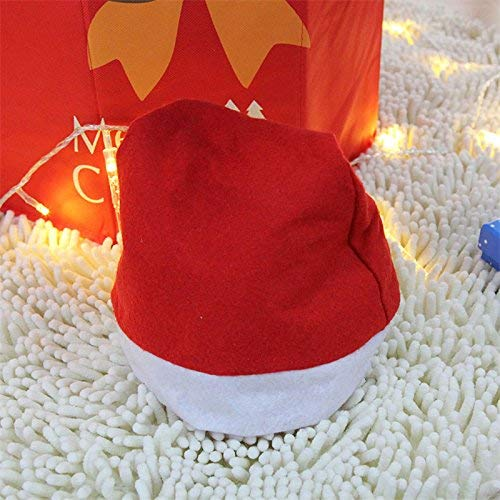 Xeminor Premium Quality Santa Hat Christmas Hat Father Christmas Hat Christmas Party Unisex Adult Red Cap