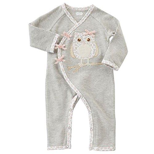 (SPOTTED OWL KIMONO SLEEPER, 6-9 months)
