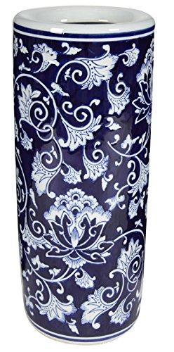 A&B Home Ceramic Umbrella Stand, 8 by 18-Inch