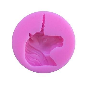LEMAIKJ Molde de silicona para Repostería, Galletas,Torta Fondant, Chocolate y Jabón - Forma de Unicornio, 6.2 cm × 6.2 cm × 1.1 cm: Amazon.es: Hogar