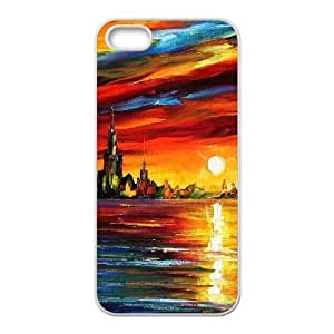 Sun Moon Back Case Cover for Iphone 5,5S,diy Sun Moon case cover series 5