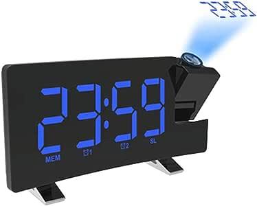 YuoungYuan Reloj Digital Pared Despertador analogico Reloj ...