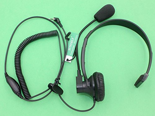 SUNDELY® Over-Head Earpiece/Headset Boom Mic PTT-VOX Switch for Cobra Micro-Talk 2 Two Way Radio Walkie Talkie MT600 PR3180 CXT545 1-pin
