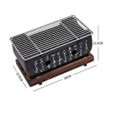 KLT Traditional Japanese Hibachi Table Grill,Portable Barbecue Stove Charcoal Stove with Non-Stick Baking Tray BBQ Table Grill