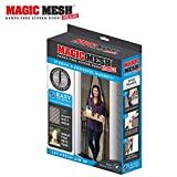 Magic Mesh New and Improved Hands Free Magnetic Screen Fits Doors Up to, 83' x 39', Black