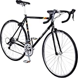 Pure Cycles Classic 16-Speed Road Bike, 56cm/Large, Veleta Black