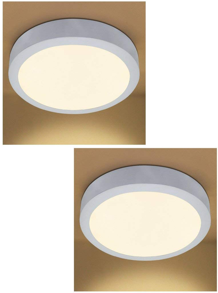 Buy D Mak 22 Watt Led Round Ceiling Surface Panel Light Warm White Yellow Pack Of 2 Online At Low Prices In India Amazon In