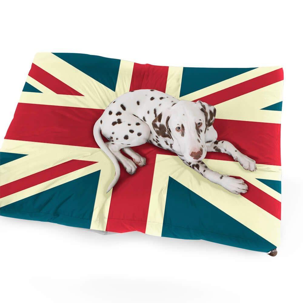 ordene ahora los precios más bajos Medium (100cm x 75cm x x x 15cm) Rucomfy Puff Puf de Lujo de Ante sintético Union Jack Pet Bed-Medium  entrega de rayos