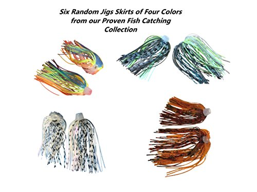 (84 Strand Quick Change Jig Skirt or Spinner-bait Skirt 6 Pack, Sexy up your lure, dress it in this Skirt! Proven Colors That Work. (Combo Pack))
