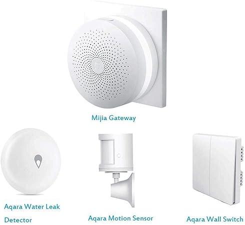 Application Mijia et Apple Homekit Kit Aqara Smart Home 2 en 1 commutateur Mural Aqara passerelle Multifonctions t/él/écommand/ée Aqara Smart Home WiFi Touche Simple