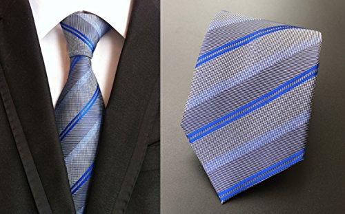 Les Liens De Bande De Cravate En Soie Hommes Mendeng Pour Affaires Robe Cravate De Mariage Bleu Casual