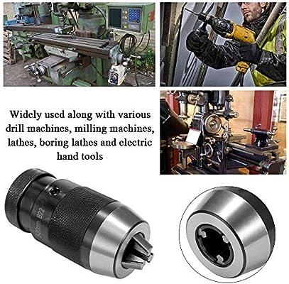 FLY MEN B22 5-20mm Keyless Drill Chuck Precision B22 Adaptor Lathe Self Tighten Light Duty Taper Drill Chuck for Power Tool