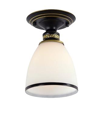 Deckenleuchte Retro Klein Flurlampe Rund Glass E27 Flurleuchte ...