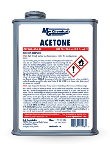 Pure Acetone (MG Chemicals Acetone (Pure Grade) 32 fl oz)