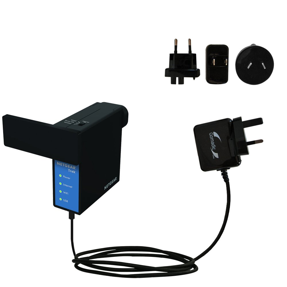 Advanced International Wall AC 2A Charger compatible with Netgear Trek N300 PR2000 - Powerful 10W charging, built with Gomadic Brand TipExchange Technology, for worldwide use