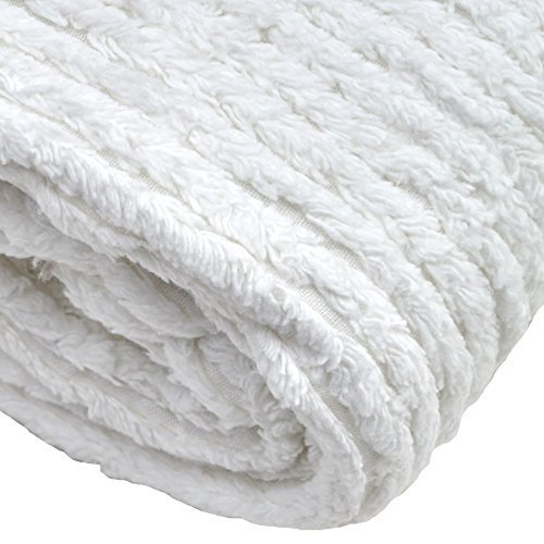 Richland Textiles AH-402 10 Ounce Chenille White Fabric by The Yard, by Richland Textiles (Image #2)