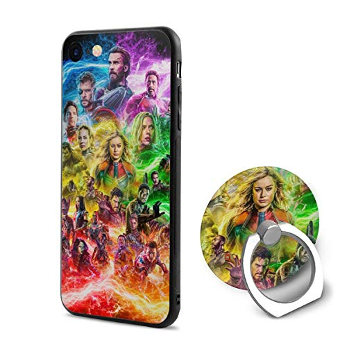 (Avengers End Game Fan Phone Cases With 360 Rotating Ring Grip Holder For IPhone 6 6s Anti-Scratch Shock Absorption Cover)