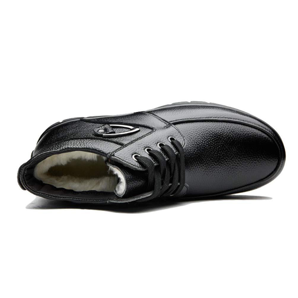 1ff29f0cf5d63 Scarpe da Uomo Pelle di Lana Interno Mantenere Caldo per Il Regalo di Uomo  Scarpa Invernale passando da Lavoro a Slittamento  Amazon.it  Scarpe e borse