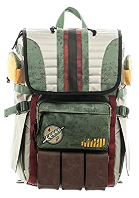 Star Wars Boba Fett Mandalorian Suit Up Laptop Backpack by Bioworld