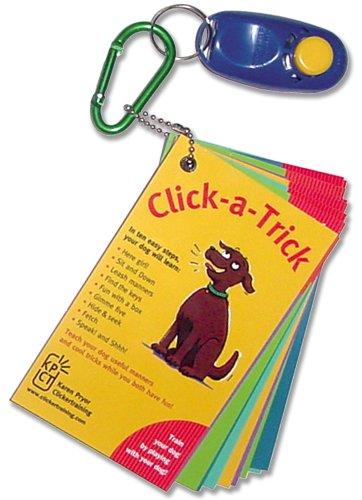 Karen Pryor, 10 Trick Card Set with I-click for Dogs